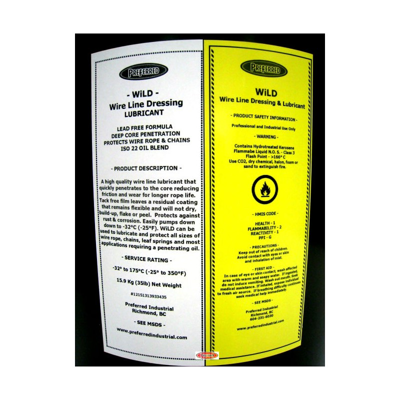 WiLD Penetrating Wire Rope, Chain & Cable Lubricant 19 L Canada